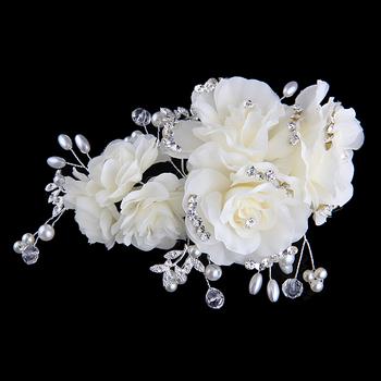 Мода аксессуары для волос аксессуары кристалл драгоценного кружево цветок волосы ...