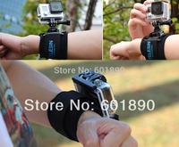 Free Shipping TELESIN Wrist Mount Arm Strap Mount for Gopro Hero 1 2 3 3+ Camera Black #220452