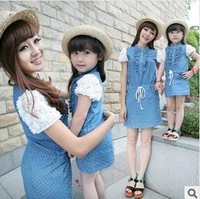 Children's clothing family fashion 2014 female child fashion skirt  clothes for mother and daughter