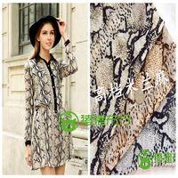 New arrival flower 2014 serpentine pattern chiffon print polyester fiber fabric