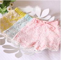children's baby clothing female child lace shorts f-2717