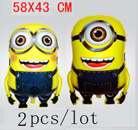 New Cartoon Banana Despicable Me Foil  Balloon Birthday Party Decoration Cute Best Toy For Kids 2Pcs/lot