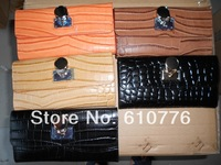 2014 High quality Michaelss  crocodile lock wallet genuine leather pures free shipping 1pcs/lot