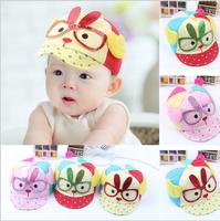 New 2014 spring Glasses cap child Dots hats baby hats Rabbit baseball cap Infant hat Angel wings caps children cap free shipping