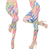Fashion Punk Spring women 2014 legging Seamless Feather print legging Sports leggings fitness BB-22