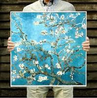 Free shipping DIY Diamond Painting Van Gogh's Almond Blossom Rhinestone Kits Diamond Embroidery Set
