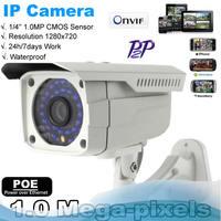 POE IP Camera Outdoor 720P Waterproof IP66 Network 1.0MP HD CCTV Camera P2P Plug&Play PAL/NTSC
