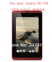 High quality clear Screen Protector Film Guard Case for Acer Iconia B1-720 with retail packing Wholesale 100pcs/lot