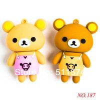 New arrival free shipping Cartoon Bear Drive 8GB/16GB/32GB Usb Flash Drive USB 2.0 Memory Stick