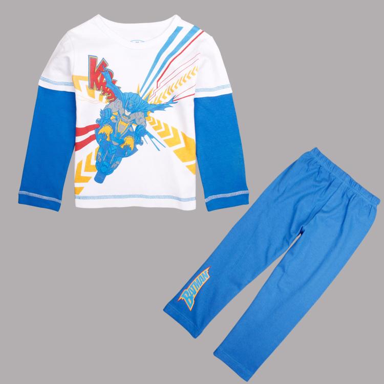 Children clothing set 2014 new boys sets kids pants & t shirt printed cartoon boys spring autumn boys clothing sets for children(China (Mainland))