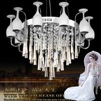 2014New Arrival Chinese style Unique design wine Glass crystal lamp led pendant light restaurant lamp pendant light