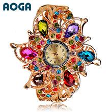 Quality crystal Women's Watches bracelet dress watch fashion ladies wristwatch Bangle watches W1856(China (Mainland))