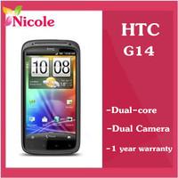 Original  unlocked HTC Sensation G14 Z710e  Refurbished cell phone 8MP camera Dual core 3G Smart phone 1 year warranty