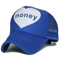 LOVE MONEY mesh hat heart baseball cap 7color 1pcs free shipping