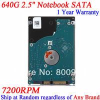 sata2 7200rpm 640G HDD Hard Disk 2.5 inch notebook