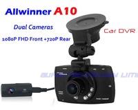 2014 New Dual Lens Car DVR Dual Camera HD 1080P Night Vision Allwinner A20 170 Degree G31 free shipping