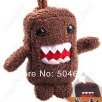 Free shipping 80mm Cute Mini Domo Kun Plush Doll Strap w/ Keychain