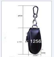 Fashion 7 Colors Cow Split Genuine Leather Men Women Key Wallets / Purses / Keychain Zipper