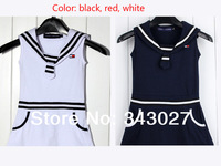 Free Shipping 2014 New Summer Children's Girl Clothing girls POLO Dress Leisure, brand cotton dress Casual Tennis Dresses Gift