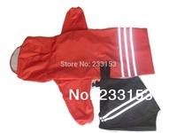 Free Shipping Large Dog 4-Legged Waterproof Jacket Rain Suit Dog Raincoat and Overalls Dog Slicker Pet Poncho Rainproof Clothing