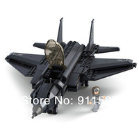 Free shipping creative assemble Building blocks children military Fighter Building blocks puzzle toy model #W0011