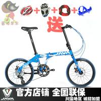 2014 New Java fit-16s-d folding bike ultra-light 16 car 20 folding bicycle light  Free Shipping