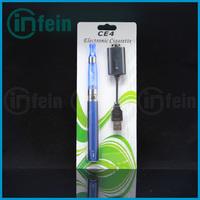 1pc/lot eGo e Cigarette eGo CE4 Kits BLISTER PACK 1.6ml Atomizer ego t battery eGo kits Free Shipping(1*ego-ce4 blister)
