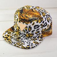 Personalized tiger pattern hater baseball cap snapback hiphop leopard print flat along the cap hiphop hat