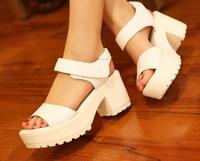 Summer new arrival 2014 platform white fashion platform soft  women's high-heeled shoes thick heel sandals