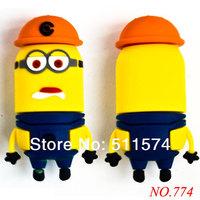New arrival free shipping 8GB 16GB 32GB Family Cartoon Fashion Gift Minions USB 2.0 Memory Flash Stick Pen Drive/Disk dzU01z0