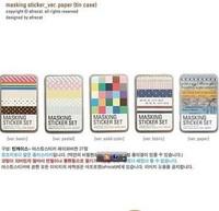 Wholesale,(1 Lot=3 sets=81 sheets+3 pcs Tin Box) DIY Scrapbooking Cute Diary Paper Tin Box Photo Frame Stickers Notebook Sticker