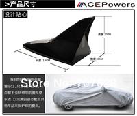 Car tail Light LED Flash Solar Power Aerials Light Car Auto Shark Fin Antenna Style Warning Light Free Shipping