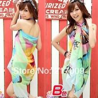 BIG SIZE!NEW 2014 Fashion Bra Bikini Beach sunscreen shawl veil   c  clock dot  Free Shipping SC-20