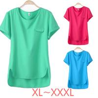 The Newest 2014 High Quality Women's Chiffon Velvet Blouse Plus Size XL-XXXL SIZE/Tops/Cardigan