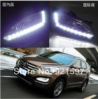 ABS OEM High power Super bright used for Hyundai Santa Fe ix45 2013 led DRL daytime running light fog lamp free shipping EMS