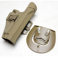 For Sig220/226/228/229 CQC Tactical Airsoft  Paintball Right Hand Polymer Holster W/ Waist Paddle Belt Loop Sand