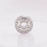 New Vintage 925 Sterling Silver Loose Slider Charm Bead, DIY Jewelry Gift Fit Pandora Thread Charm Bracelet DIY Making
