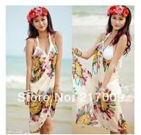 BIG SIZE! NEW 2014 FashionLarge size beach towel beach bikini scarf c  clock dot  Free Shipping SC-26