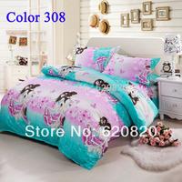 Bedding Set Romantic Lover beatiful Butterfly Bedding sets Duvet cover set Pillow Case Bedsheet  4PCS Home Textile Wholesale