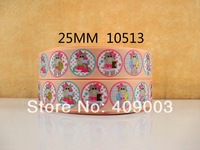 "50Y10513 kerry ribbon free shipping 1"" printed Grosgrain ribbon DIY headgear ribbon and bow accessories"