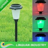 Solar LED lamp/1 LED landscape garden light/color change lamp/outdoor decorative lawn lamp