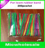 Loom rubber Band Hook & Plastic Clasps for Twist DIY Bracelet LOOM KIT 200pcs /lot