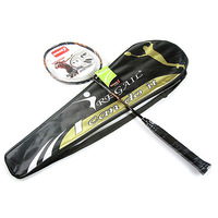 New Carbon Fiber Badminton Rackets Fast Speed Battledore Racquet with Free Carry Bag Black