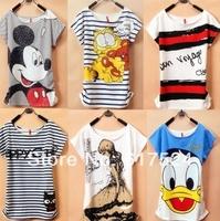 2014 New Topic Mickcy Mokey T Shirt Women tees women type T-shirts Short Sleeve Quicker Shipping Women's Printed Casual T Shirts