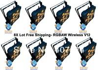 8X LOT Free Shipping New V3 12*15W RGBAW Wireless DMX led par light - 12*15W RGBAW V12 Wireless DMX LED Par Light,ADJ Light