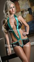 DA6042 Free Shipping New Women One Piece Hot Sexy Lingerie Lace Teddy Halter Night Sleepwear