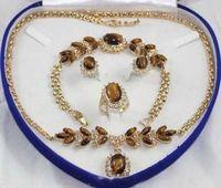 Fashion beautiful necklace Bracelet Earrings Ring Set