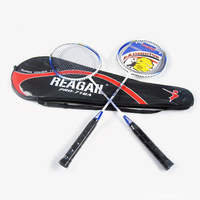 1 Pair Durable Speed Badminton Racket Battledore with Carry Bag Light weight