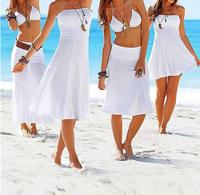 2014 NEW Fashion Cover-Ups Bikini Outside Shirt Tie Skirt Beach One-piece Dress For Women SIZE S,M,L,XL
