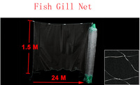 Fishermen 5x5cm Mesh Hole 24M x 1.5M Fishing Fish Gill Net w Float 2pcs